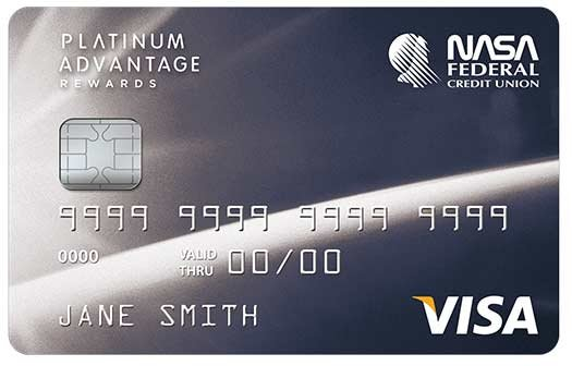 NASA Federal Credit Union Platinum Advantage Rewards Credit Card