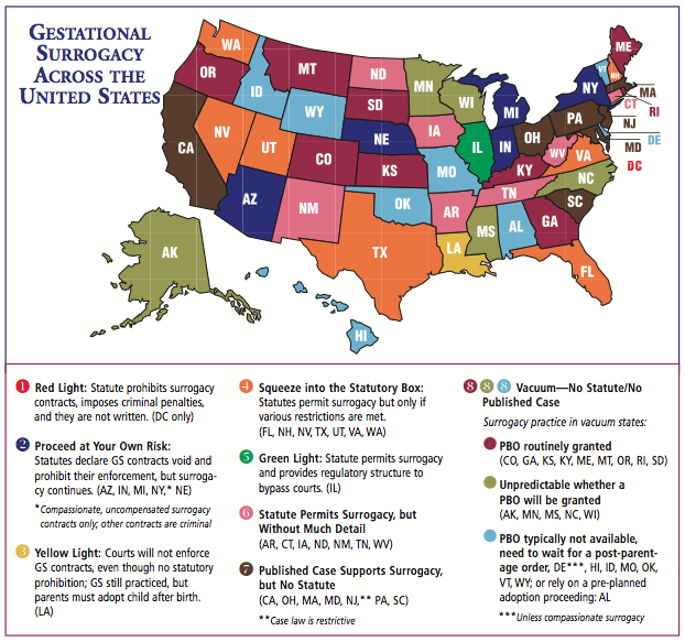 surrogacy laws by state map The Daddies Issue Road Map To Surrogacy Nerdwallet