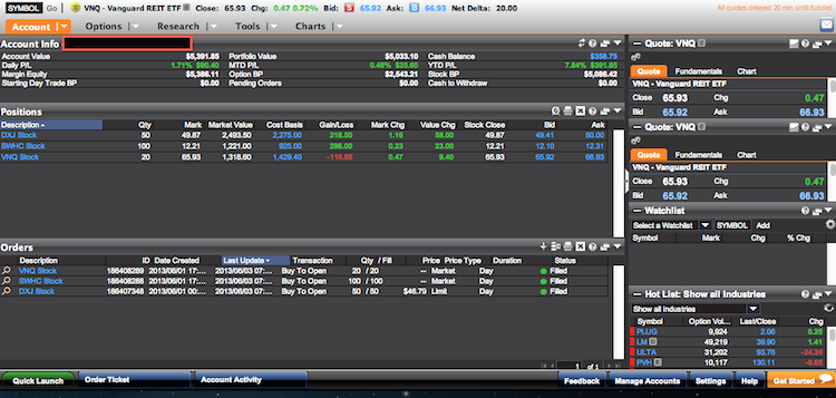 optionshouse trading platform