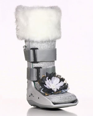 Cast Medic Designs - Snow White Medical Boot Accessories