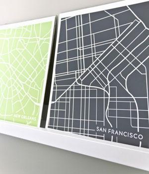 Jenna Sue Designs - San Francisco City Map