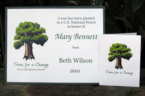 Trees For A Change - Personalized Tree Gift
