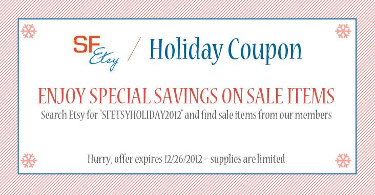 SF Etsy Holiday Coupon