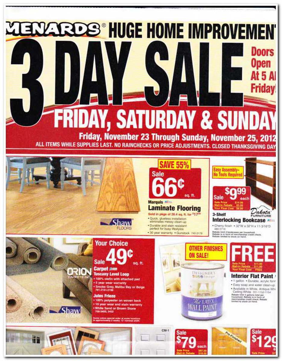 Menards Black Friday Ad Is One Of The Last Big Ads To
