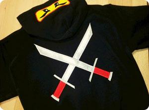 Ninja Applique Hoodie By Create Sew Embellish
