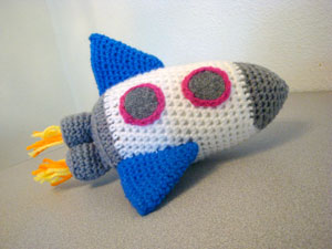 Rocket Amigurumi Crochet Toy By IndigoToyBox