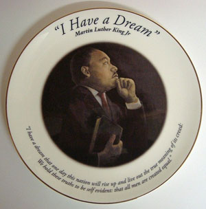 "Bobonart - MLK ""I Have a Dream"" Plate"