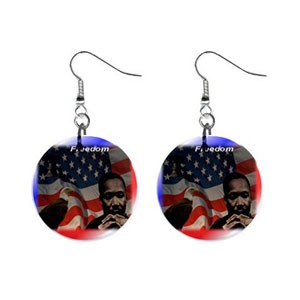 EarringsStop - MLK Button Earrings
