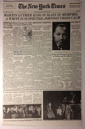 EstrangedEphemera - MLK Assassination New York Times