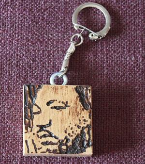 WoodPictures - MLK Keychain