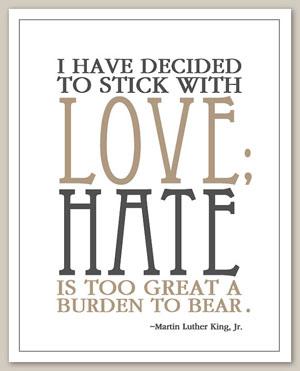 saidthepelican - MLK Inspirational Quote Print