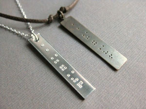 InformalElegance - Braille Date Necklaces