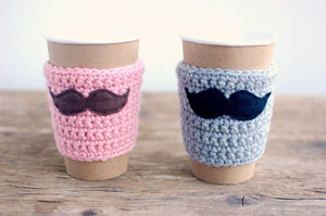 the cozy project - His and Hers Mustache Cozies