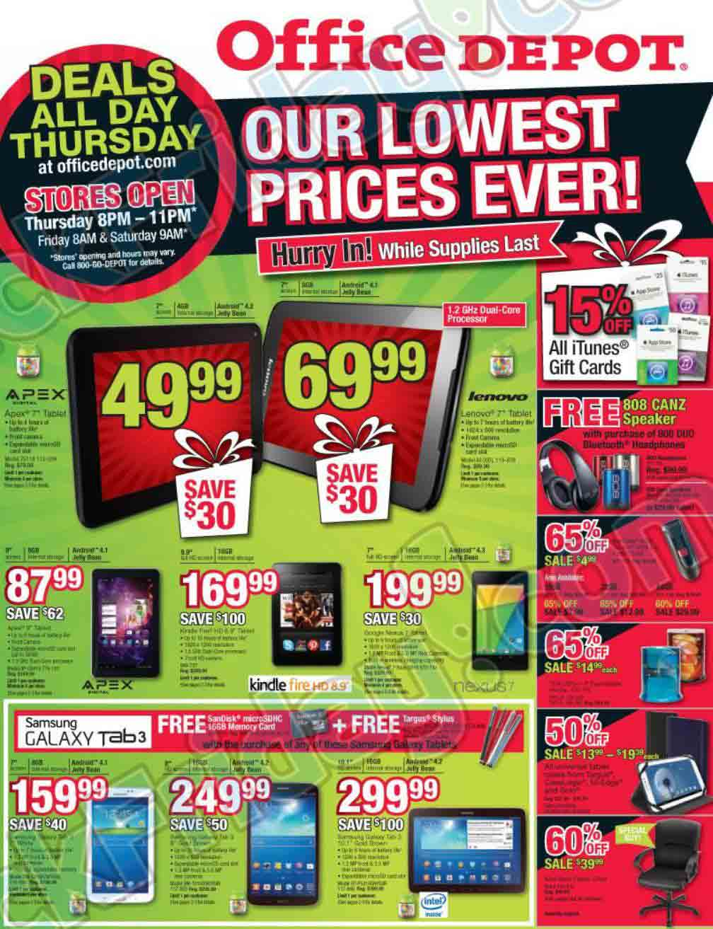 Office depot black friday 2013 ad find the best office for Deals by depot