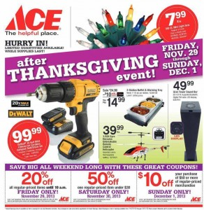 Ace Hardware 2013 Black Friday Ad Scan - Page 1