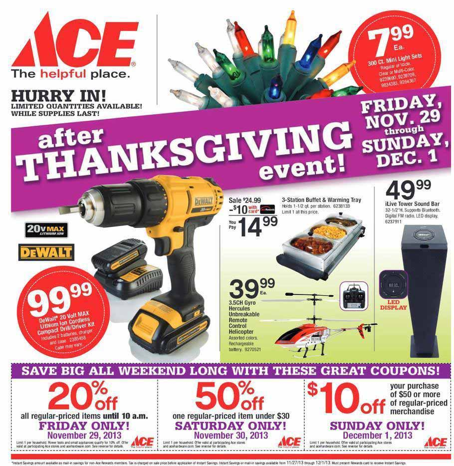 Ace Hardware Black Friday 2013 Ad Find The Best Ace Hardware Black Friday Deals And Sales Nerdwallet