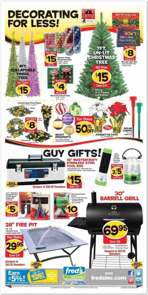 Fred's Super Dollar Black Friday Ad Scan - Page 4