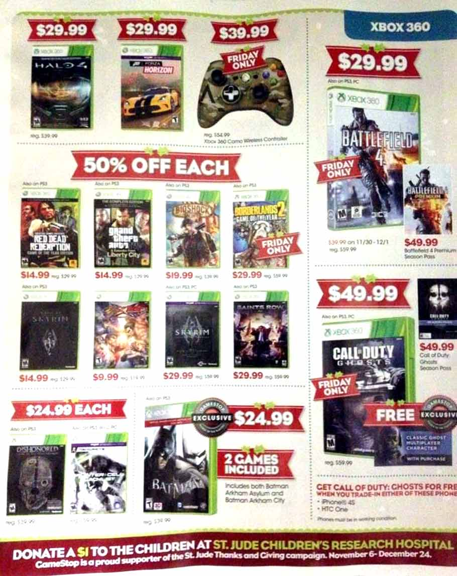 GameStop Black Friday 2013 Ad - Find the Best GameStop Black ...