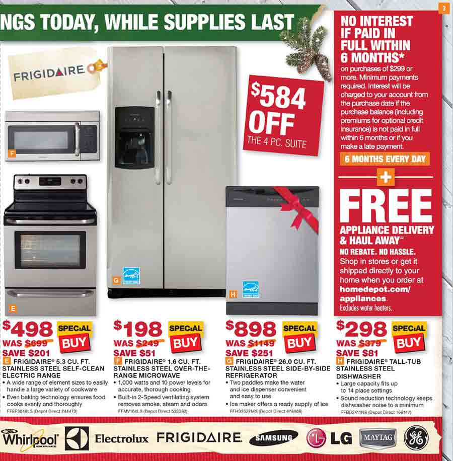 exceptional Home Depot Kitchen Appliances Sale #1: Full Home Depot ...