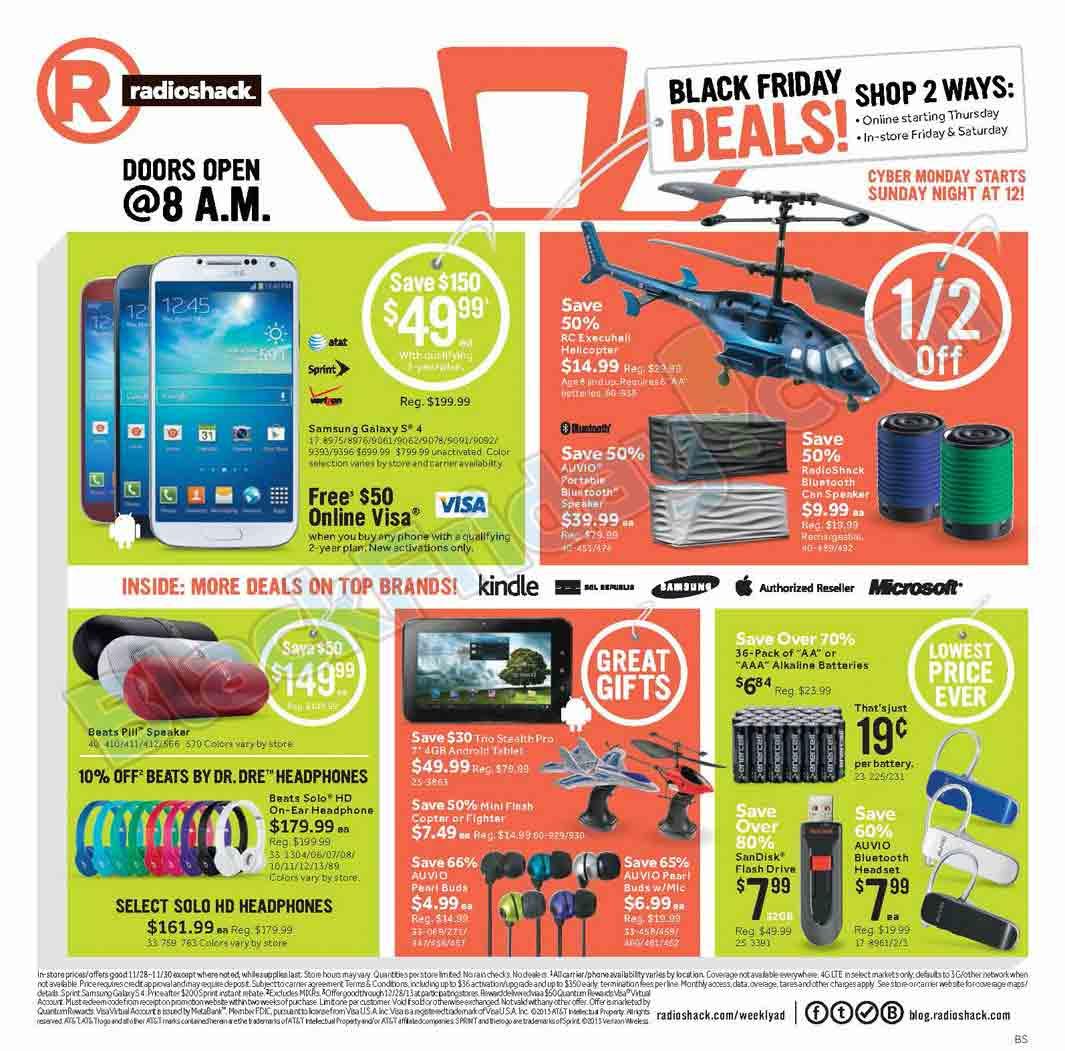 Radio Shack Stores: RadioShack Black Friday 2013 Ad