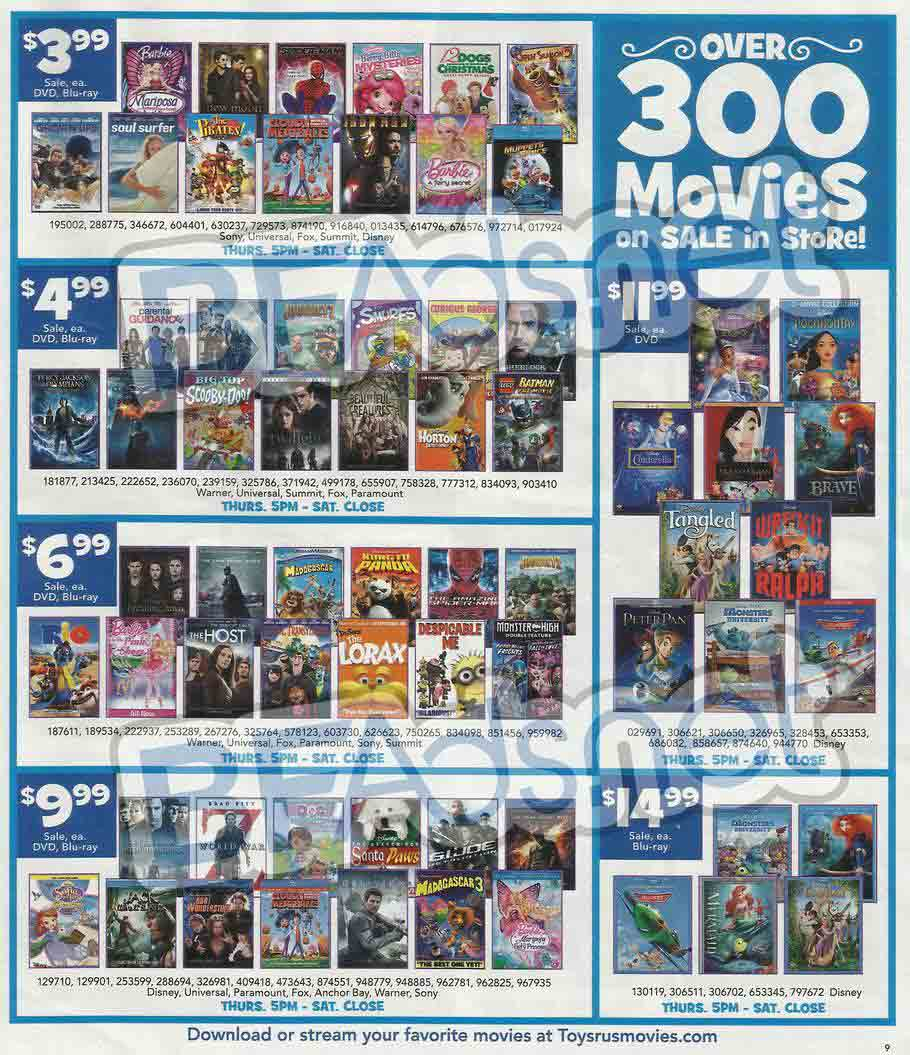 Toys R Us Dvd : Toys quot r us black friday ad find the best