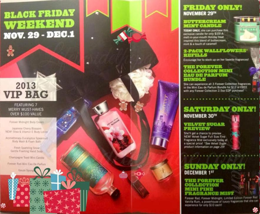Bath & Body Works Black Friday deals. In , the Bath & Body Works VIP tote bag was the centerpiece deal for Black Friday. The bag was valued at $ and included Bath & Body Works.