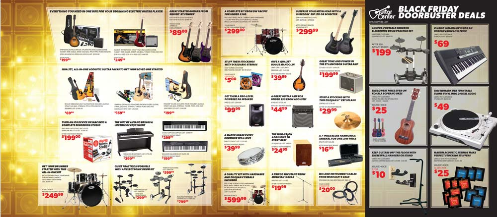 guitar center black friday 2013 ad find the best guitar center black friday deals and sales. Black Bedroom Furniture Sets. Home Design Ideas