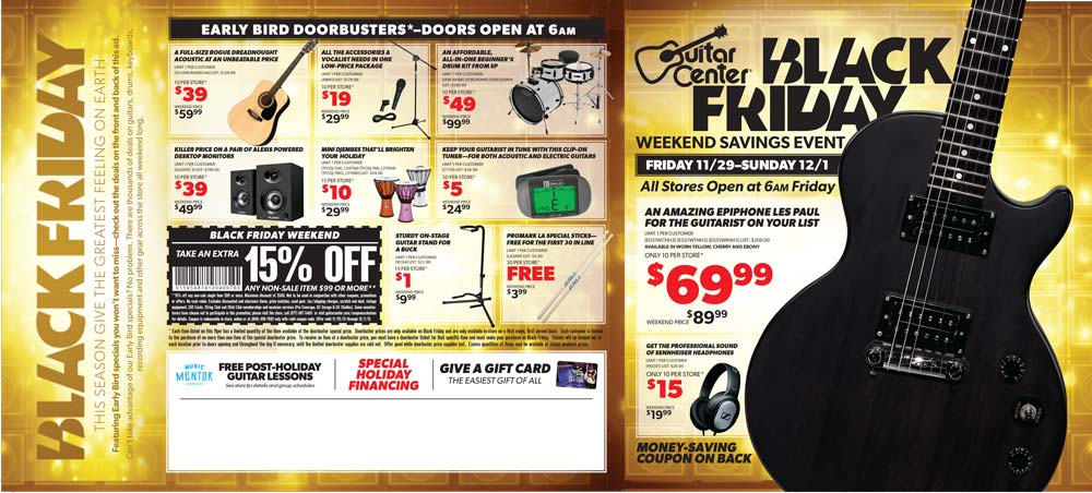 guitar center black friday 2013 ad find the best guitar center black friday deals and sales. Black Bedroom Furniture Sets. Home Design Ideas