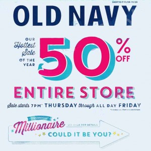 Old navy overnight millionaire sweepstakes giveaway