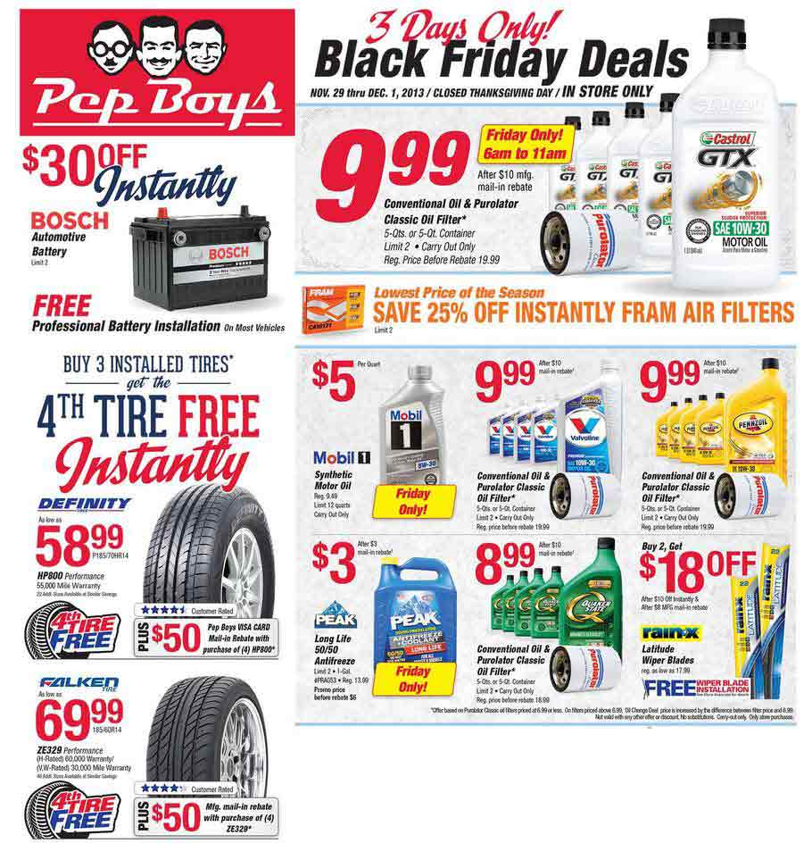 Pep Boys Black Friday 2013 Ad Find The Best Pep Boys