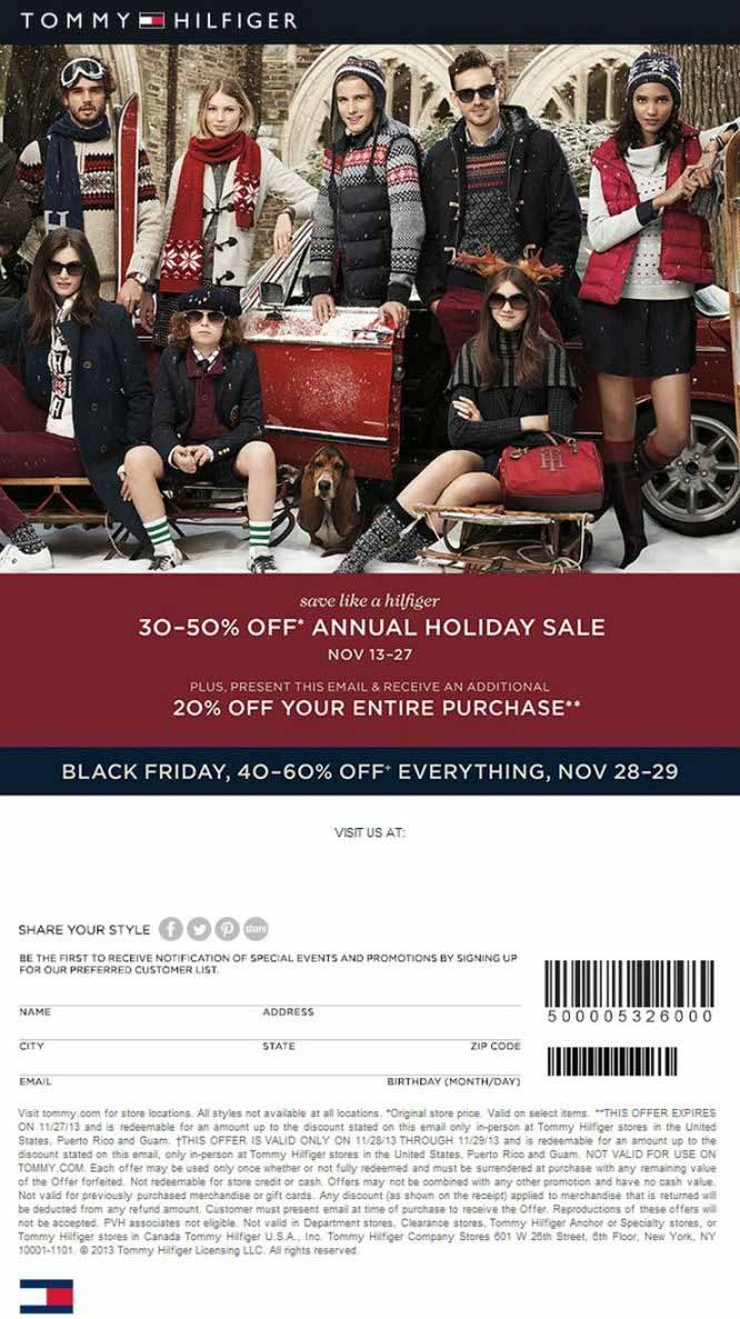 9159930a Tommy Hilfiger Black Friday 2013 Ad – Find the Best Tommy Hilfiger Black  Friday Deals and Sales