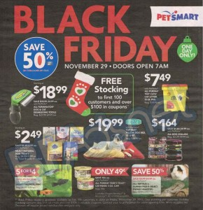 PetSmart Black Friday Ad Scan - Page 1