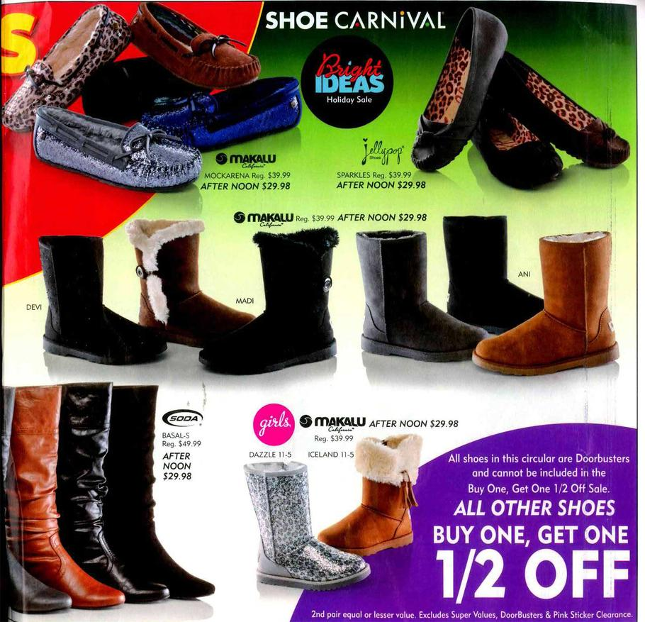 Shoe Carnival Black Friday Sales