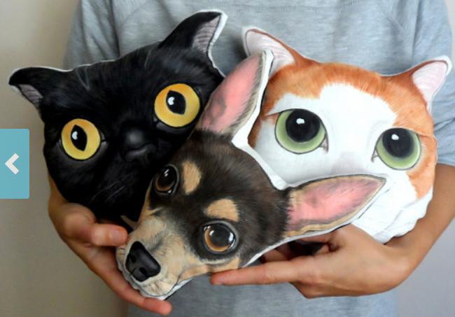 custom pet portrait pillow plush