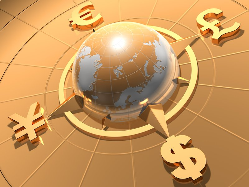 Global currency illustration