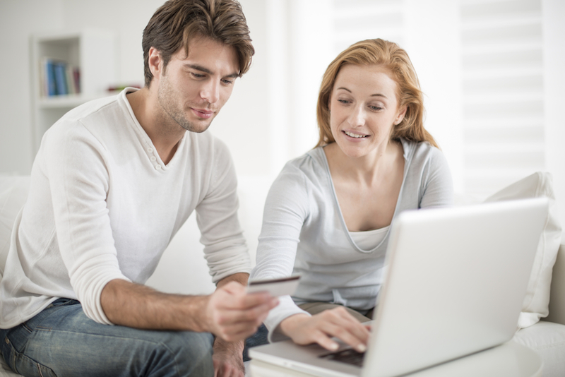 couple and credit card