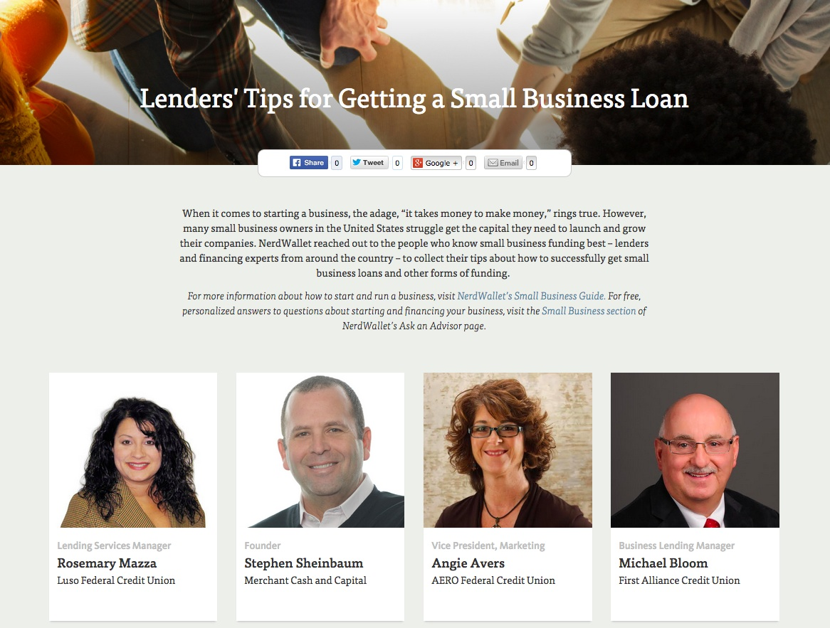 Lenders' Tips for Getting a Small Business Loan