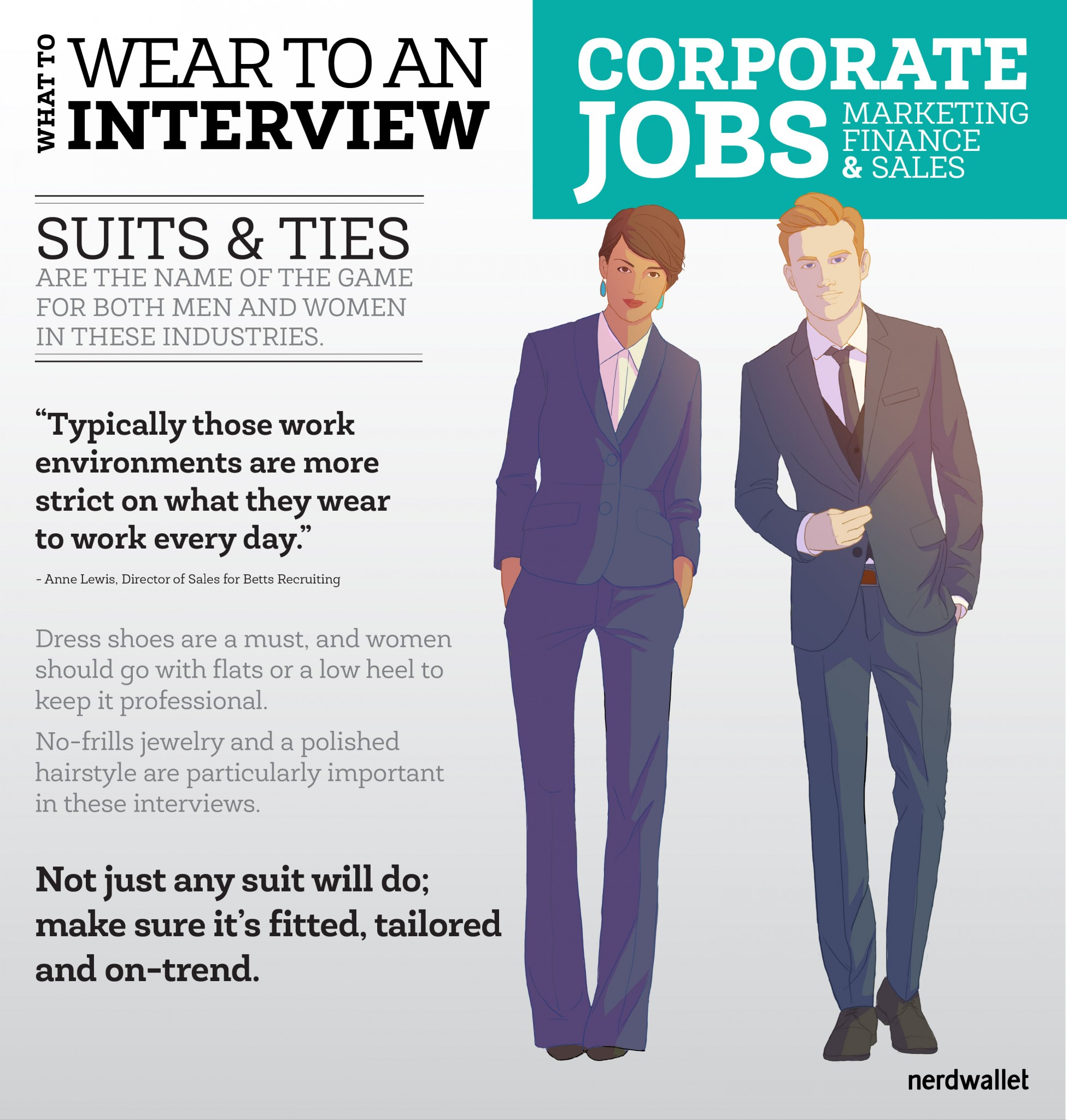 What to Wear to a Marketing, Sales or Finance Job Interview