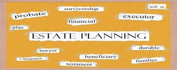 Estate planning corkboard