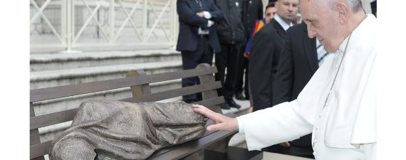 Pope Francis and sculpture