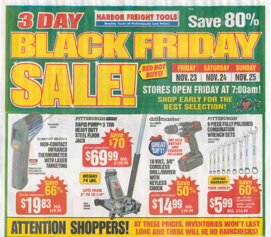 Harbor Freight Black Friday 2012 Ad Released - NerdWallet
