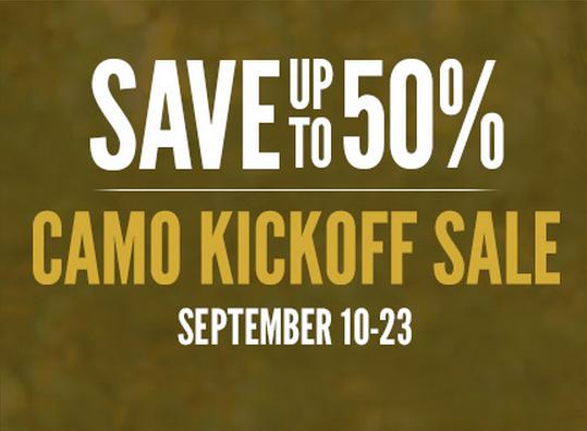 Cabela's Camo Kickoff Sale