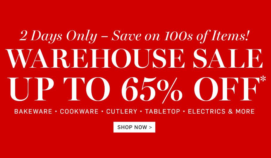 Williams-Sonoma Warehouse Sale
