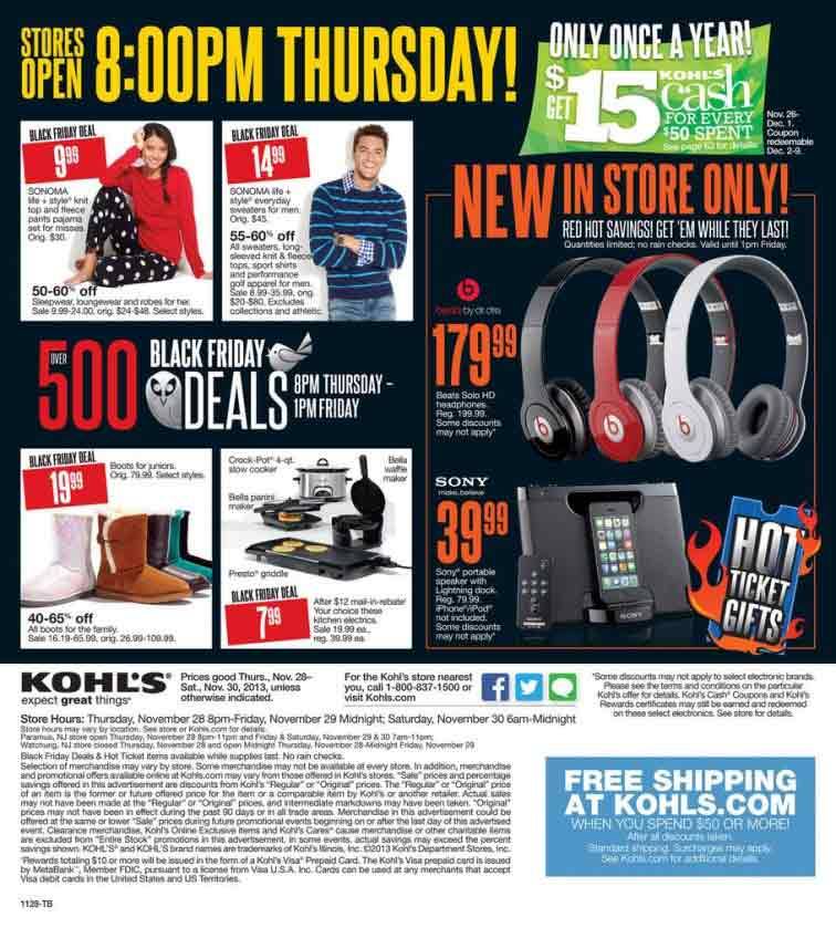 Kohls jewelry black friday sale