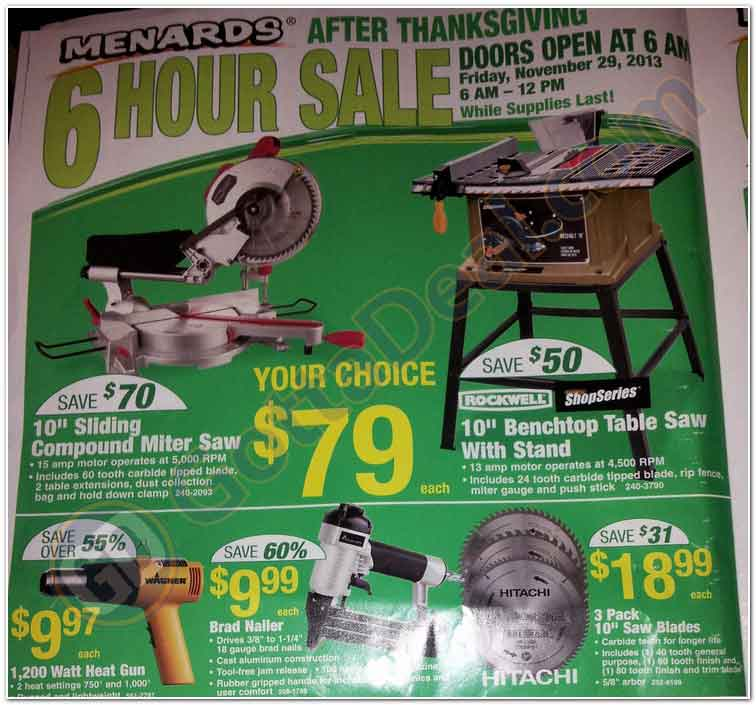 Menards Black Friday 2013 Ad Find The Best Menards Black