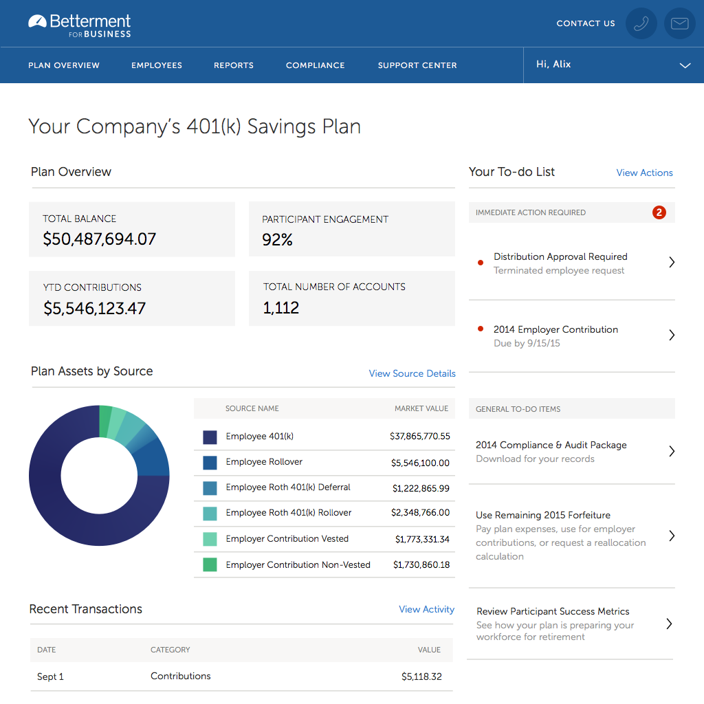 Robo-Advisor Betterment Launches 401(k) Option for Employers