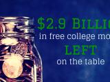 2.9B FAFSA College Money Left On Table