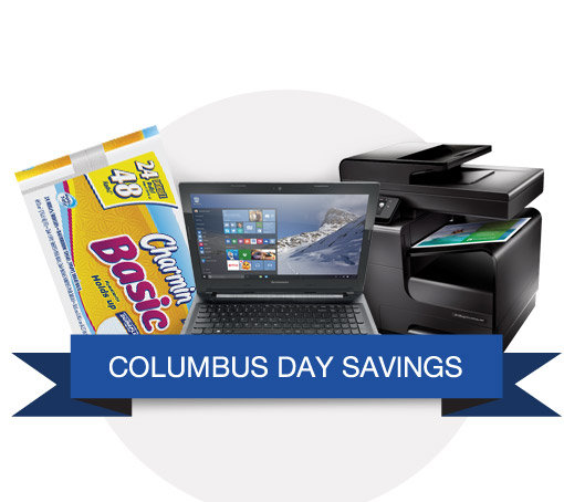 Save 75% or More at Staples Columbus Day Sale