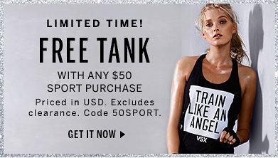 Free Graphic Tank at Victoria's Secret