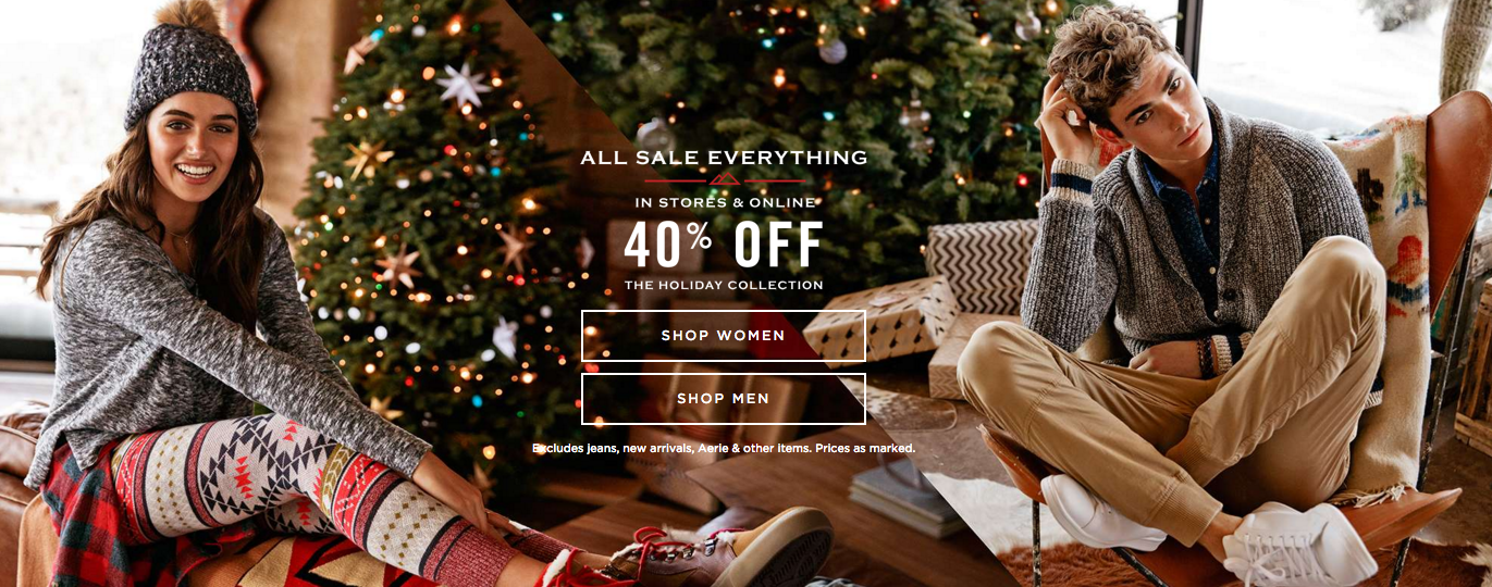 American eagle outfitters holiday ads